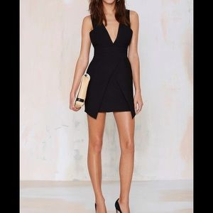 NEVER WORN Finders Keepers Black Plunge Dress